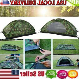 1/2 Person Man Camouflage Tent Single Layer Waterproof Campi