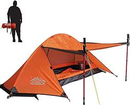 camppal 1 Person Tent Backpacking Camping Hiking Mountain Hu