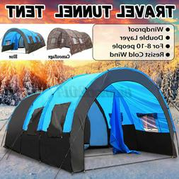 10 Person Large Family Tent Portable Traveling Camping Hikin