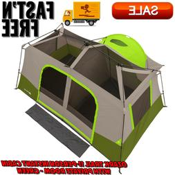 Ozark Trail 11-Person Green Instant Cabin with Private Room,