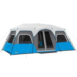 CORE 12 Person Instant Cabin Tent with Built-In LED Lighting