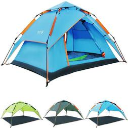 REDCAMP 2-3 Person Automatic Instant Tents for Camping 3 Sea
