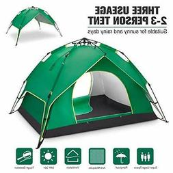 BATTOP 2-3 Person Tent for Camping Instant Pop Up Tents 4 Se