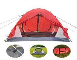 2 Person Camping Tent Double Layer Dome Travel EZ Set Up bac