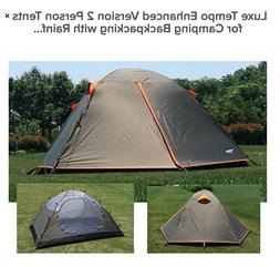 Luxe Tempo 2 Person Camping Tents 3-4 Season 2 Doors 2 Vesti