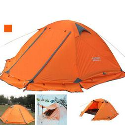 2 Person Double Layer Waterproof 4 Season Camping Hiking Bac