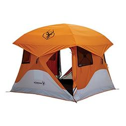 Gazelle 22272 T4 Pop-Up Portable Camping Hub Tent, Orange, 4