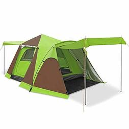 3-4 Person Automatic Tents for Camping Four-Door Instant Pop