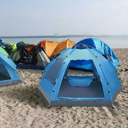 3-4 Person Camping Dome Tent Instant Pop Up Waterproof Doubl
