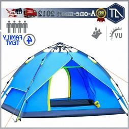 3-4 Person Family Pop Up Camping Tent Waterproof Backpacking