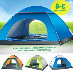 3-4 Person Outdoor Camping Waterproof Family Tent 4 Season H