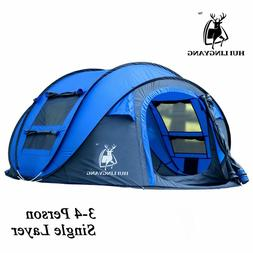 3 - 6 Person Instant Pop Up Hiking Camping Family Waterproof