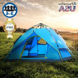 4-5 Person Dome Family Camping Tunnel Tent Waterproof Shelte