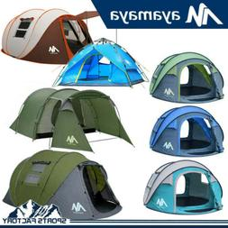 4-5 Person Outdoor Instant Pop Up Portable Tent Double Layer