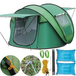 4-5 Person Waterproof Family Green Tent for Camping Carry Ba