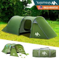 4 Person Outdoor Camping Tent Dome Family Waterproof 2 Room