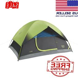 Coleman 4-Person Sundome Dark Room Dome Camping Tent with Ea