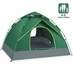 4 Person Tent Camping Pop Up 4 Seasons UV Protection Waterpr