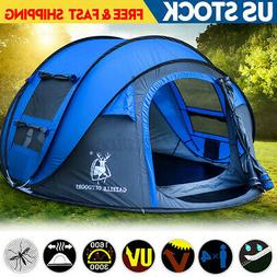 5-8 Person Automatic Pop Up Waterproof Camping Tent Hiking S