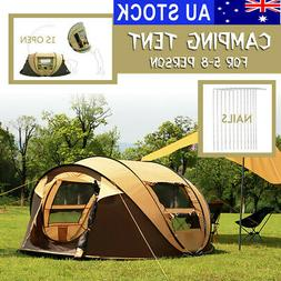 5 8 person waterproof large pop up