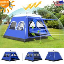 6-8 Person Instant Tent Family Waterproof Backpacking Hiking