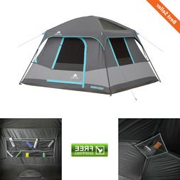 6 Person 10' x 9' Dark Rest Cabin Camping Tent Family Outdoo