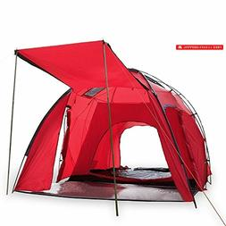 6 Person Family Cabin Tent 2 Rooms 5000MM Waterproof Instant