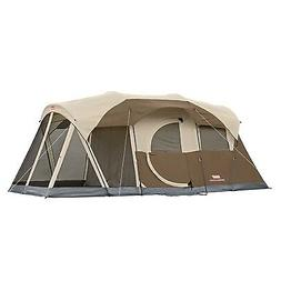 6 Person Man WeatherMaster Screened Two Room Tent, with hing