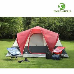 ALPHA CAMP 6 Person Tent Extended Dome Tent for Camping - 12