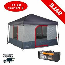 6-Person Tent Outdoor Cabin Shelter Waterproof Portable Fami