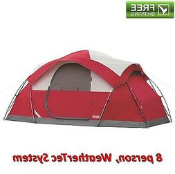 Coleman 8-Person Tent Waterproof Weathertec All Season Campi