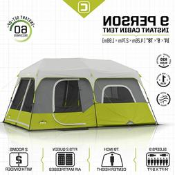 CORE 9 Person Instant Outdoor Cabin Tent 14'x9' Camping Hunt
