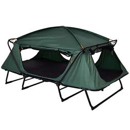 TANGKULA Tent Cot Folding Waterproof 2 Person Hiking Elevate