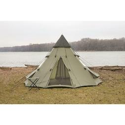 BCP 10'x10' Teepee Camping Tent Family Outdoor Sleeping Dome