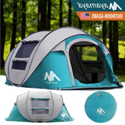 Big Pop Up Tent 4 Person Automatic Waterproof Family Camping