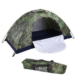 Camouflage Tent 2 Person Outdoor Camping Hiking waterproof F
