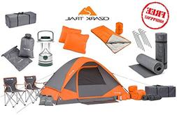 camping equipment family cabin set