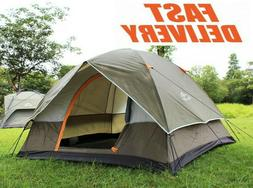 camping four person double layer tents,waterproof outdoor ca