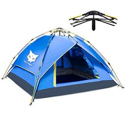 Night Cat Camping Tent 2 3 4 Person Easy Instant Pop Up Tent