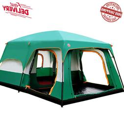 Camping Tent Outdoor For 5 6 7 8+ people outing two bedrooms