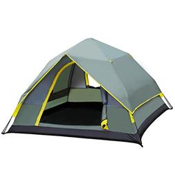 XY&CF Camping Tent 3-4 People Dome Tent Instant Automatic Te