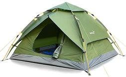 Sportneer Camping Tent 2-3 Person Automatic Instant Pop Up W