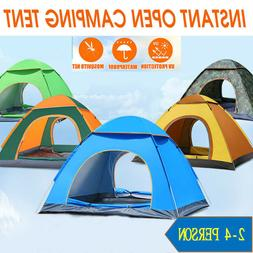 camping tent pop up automatic waterproof family