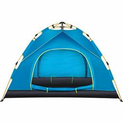 Camping Tent Waterproof/Windproof 3-4 Person Family Tent Aut