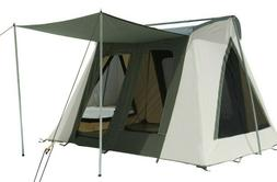 White Duck Outdoors Canvas Camping Family Tent 10'x10' Delux