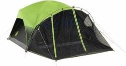 Coleman Dome Tent for Camping 4 Person, Green/Black/Teal