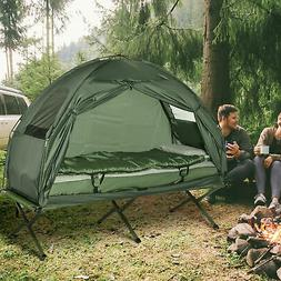 Outsunny Compact Portable Pop-Up Tent / Camping Cot w/ Air M