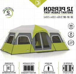 "CORE 12-PERSON INSTANT CABIN TENT 18' x 10' x 80"" 3-ROOMS 2-"