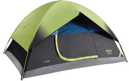 Coleman Dark Room Dome Tent for Camping Green 4 Person Backy