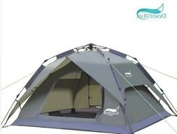 Desert&Fox Automatic Big Tent 3-4 Person Camping Tent,Easy I